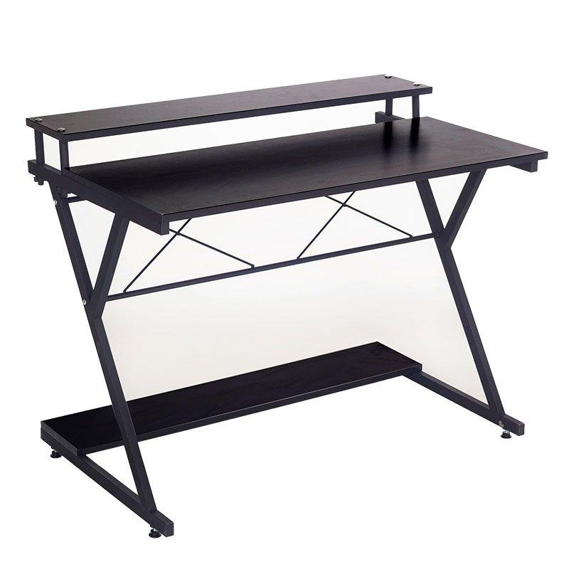 Γραφείο Turin pakoworld χρώμα μαύρο 100x45x75εκ