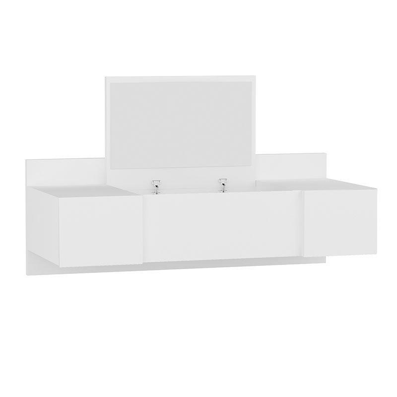Τουαλέτα Tabia pakoworld κρεμαστή με καθρέπτη λευκό 100x39x33εκ