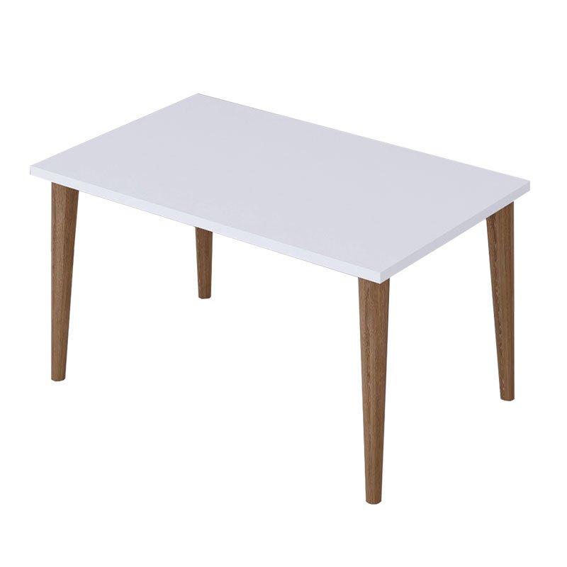 Τραπέζι σαλονιού Zahar pakoworld λευκό-καφέ 72x45x42εκ