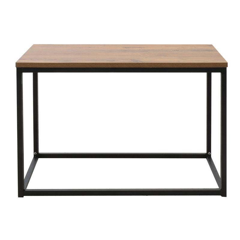 Τραπέζι σαλονιού Edan pakoworld φυσικό-μαύρο 80x50x42εκ