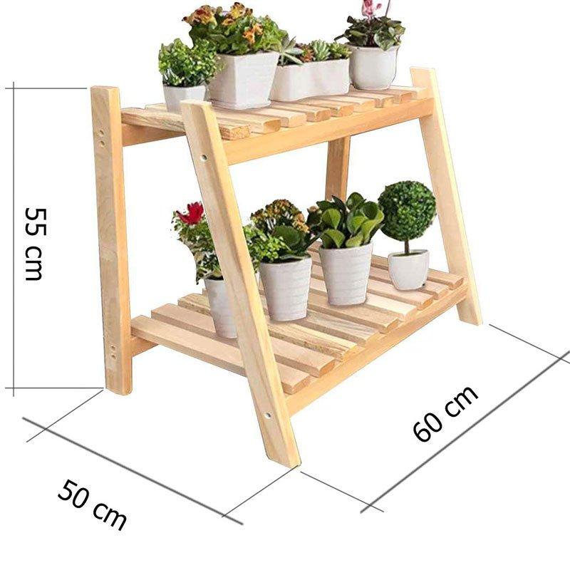 Ραφιέρα-στάντ φυτών Tisa pakoworld ξύλο φυσικό 60x50x55εκ
