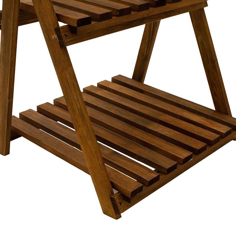 Ραφιέρα-στάντ φυτών Fenno pakoworld ξύλo καρυδί 59x50x70εκ