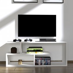 Έπιπλο τηλεόρασης Waldo pakoworld λευκό 100x29,5x40εκ