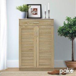 Παπουτσοθήκη-ντουλάπι SANTE pakoworld 20 ζεύγων χρώμα sonoma 80x37x123εκ