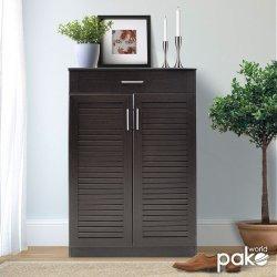 Παπουτσοθήκη-ντουλάπι SANTE pakoworld 20 ζεύγων χρώμα wenge 80x37x123εκ