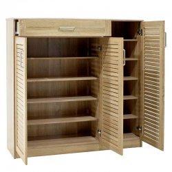 Παπουτσοθήκη-ντουλάπι SANTE pakoworld 30 ζεύγων χρώμα sonoma 120x37x123εκ