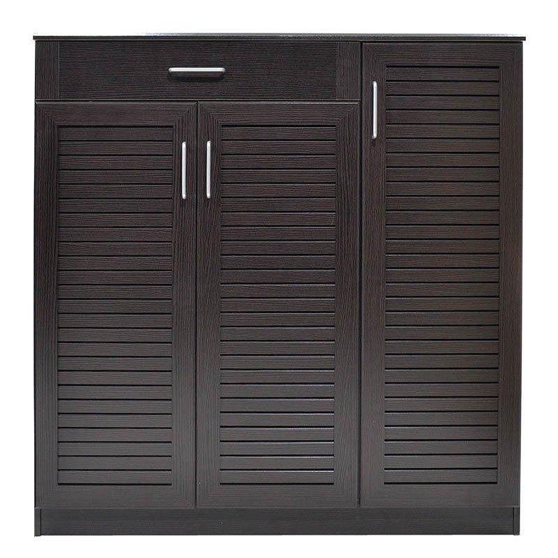 Παπουτσοθήκη-ντουλάπι SANTE pakoworld 30 ζεύγων χρώμα wenge 120x37x123εκ