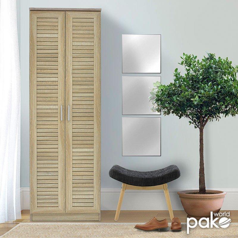 Παπουτσοθήκη-ντουλάπα SANTE pakoworld 21 ζεύγων χρώμα sonoma 60x37x183εκ