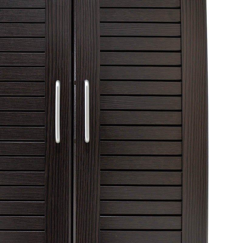 Παπουτσοθήκη-ντουλάπα SANTE pakoworld 21 ζεύγων χρώμα wenge 60x37x183εκ