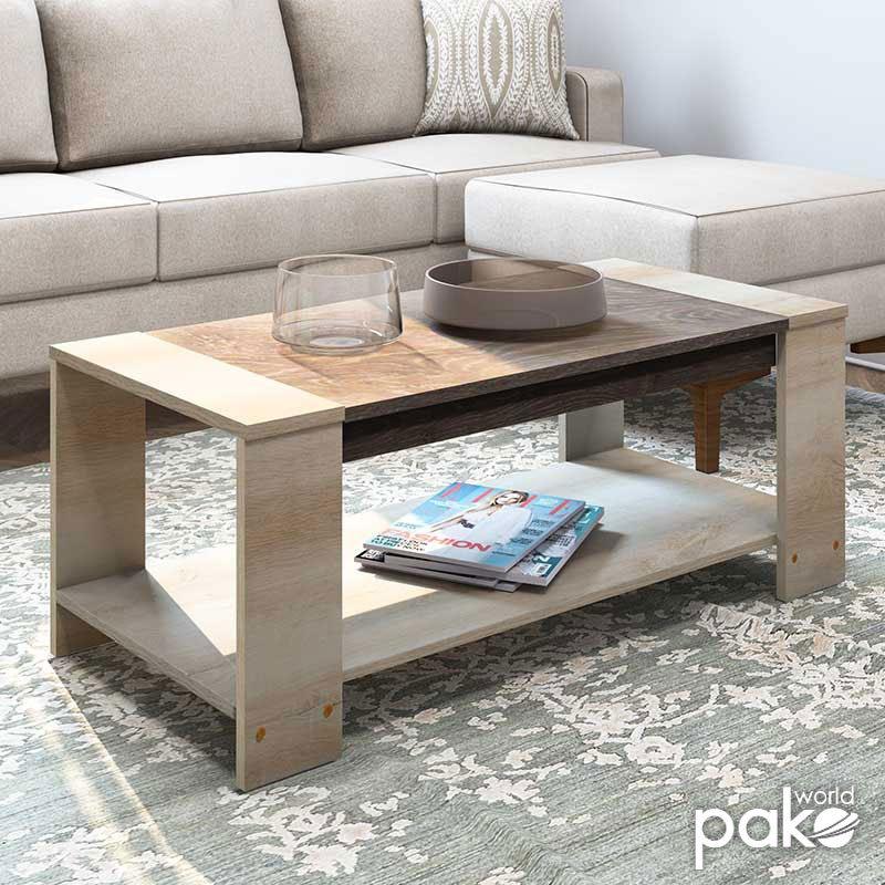 Τραπέζι σαλονιού OLYMPUS pakoworld χρώμα castillo-toro 110x51x42,5εκ