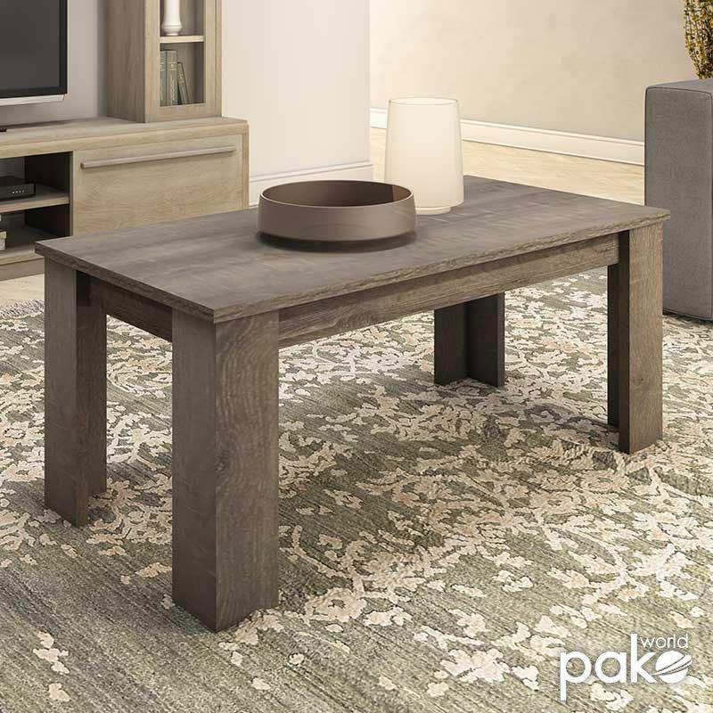 Τραπέζι σαλονιού OLYMPUS pakoworld χρώμα toro 100x51x42,5εκ