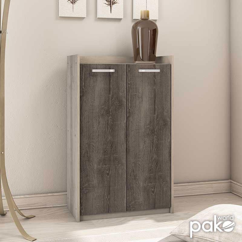 Παπουτσοθήκη-ντουλάπι OLYMPUS pakoworld 18 ζεύγων χρώμα castillo-toro 76x35x121εκ