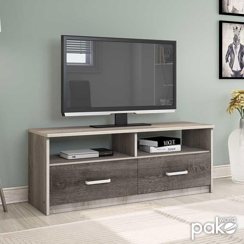 Έπιπλο τηλεόρασης OLYMPUS pakoworld χρώμα castillo-toro 120x39,5x50εκ