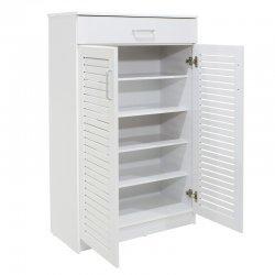 Παπουτσοθήκη-ντουλάπι SANTE pakoworld 20 ζεύγων χρώμα λευκό 80x37x123εκ