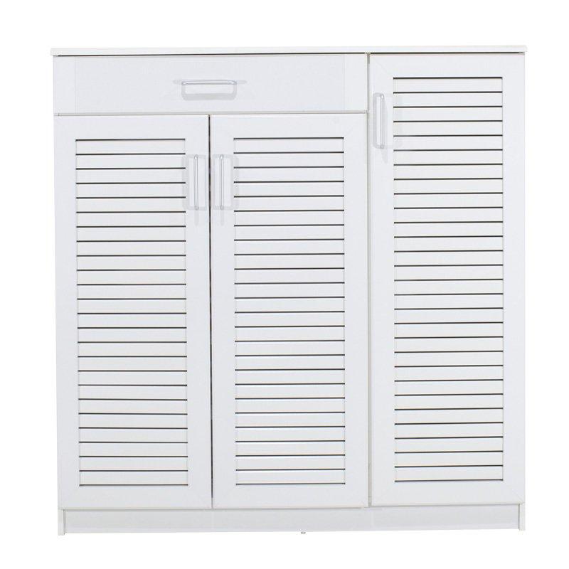 Παπουτσοθήκη-ντουλάπι SANTE pakoworld 30 ζεύγων χρώμα λευκό 120x37x123εκ