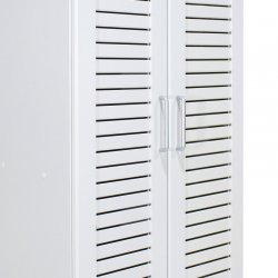 Παπουτσοθήκη-ντουλάπα SANTE pakoworld 21 ζεύγων σε λευκό 60x37x183εκ