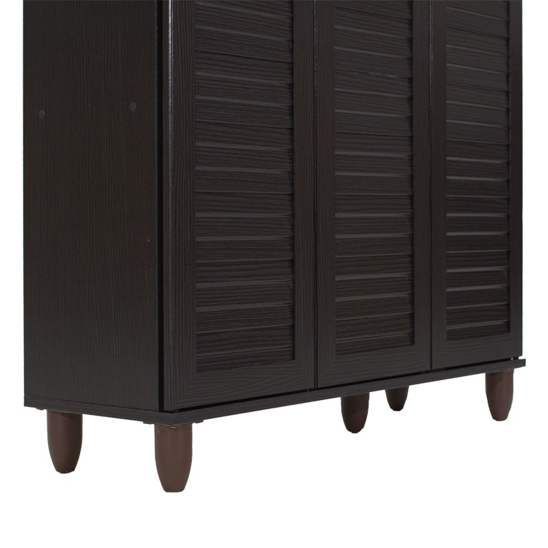 Παπουτσοθήκη-ντουλάπι SANTO pakoworld 16 ζεύγων χρώμα wenge 89,5x34,5x91,5εκ