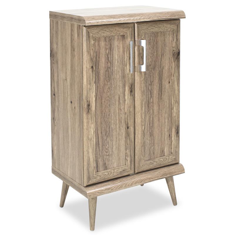 Παπουτσοθήκη-ντουλάπι RICARDO pakoworld 10 ζεύγων χρώμα Safari Oak 60x37x105εκ