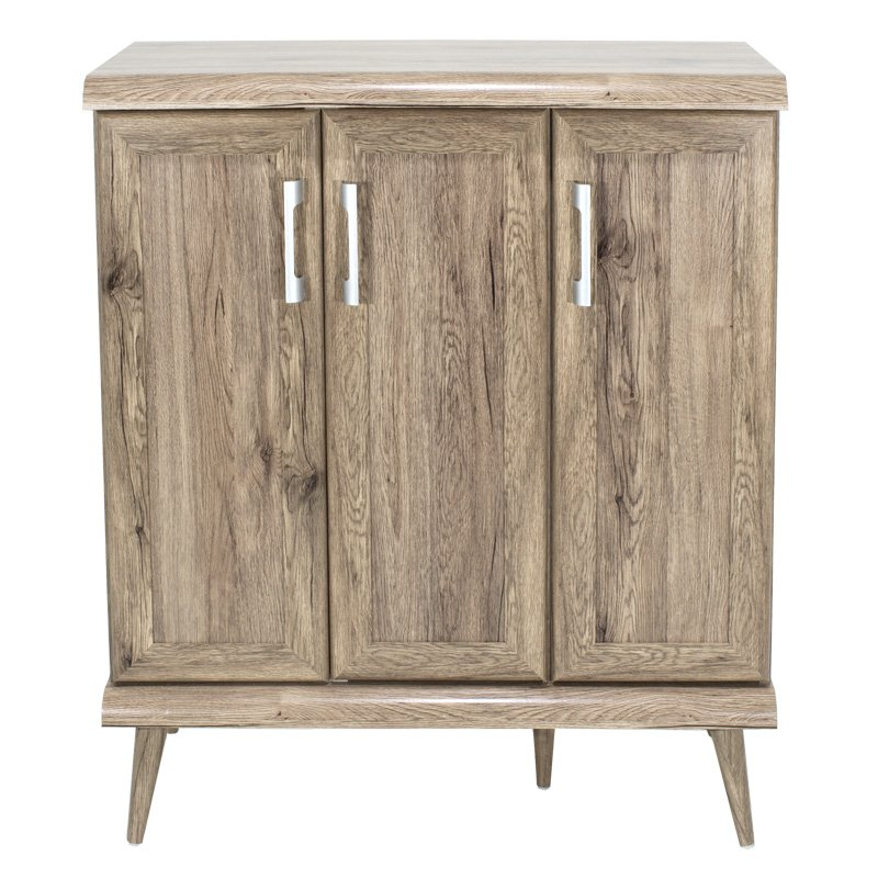 Παπουτσοθήκη-ντουλάπι RICARDO pakoworld 16 ζεύγων χρώμα Safari Oak 90,5x37x105εκ
