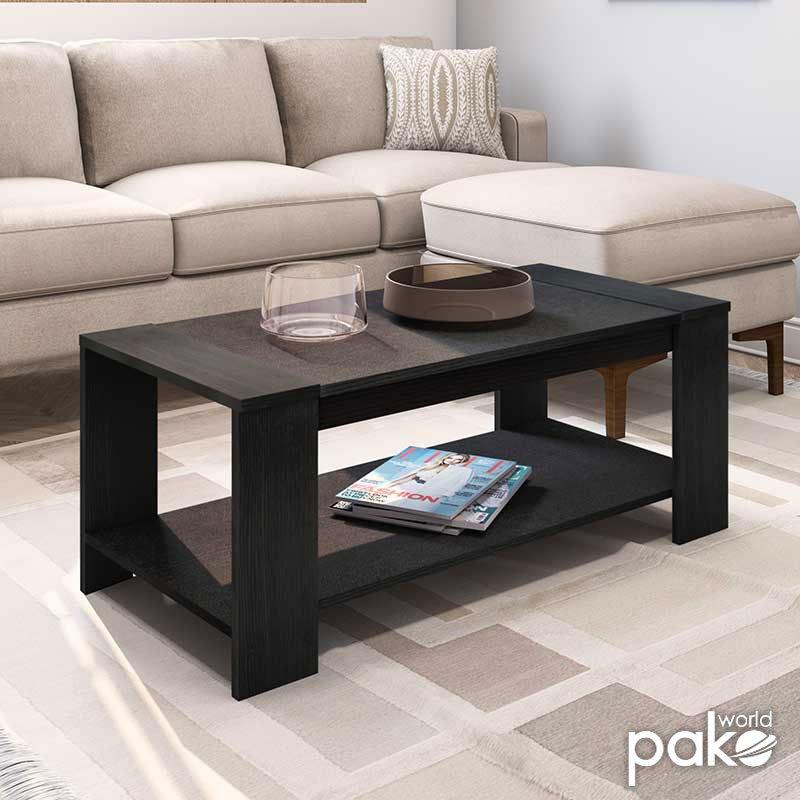 Τραπέζι σαλονιού OLYMPUS pakoworld χρώμα wenge 110x51x42,5εκ