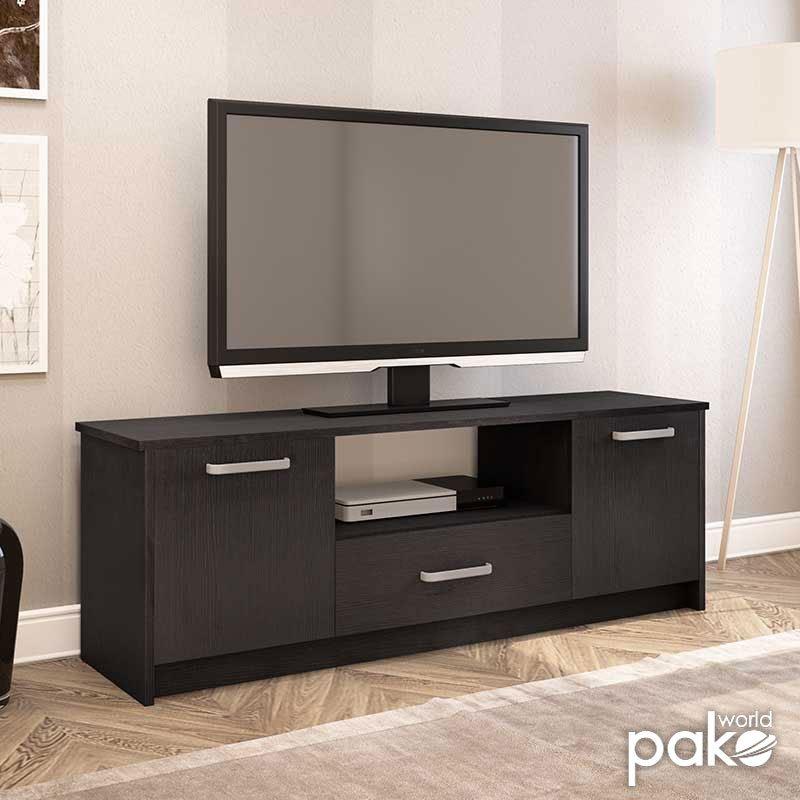 Έπιπλο τηλεόρασης OLYMPUS pakoworld χρώμα wenge 144x39x50,5εκ