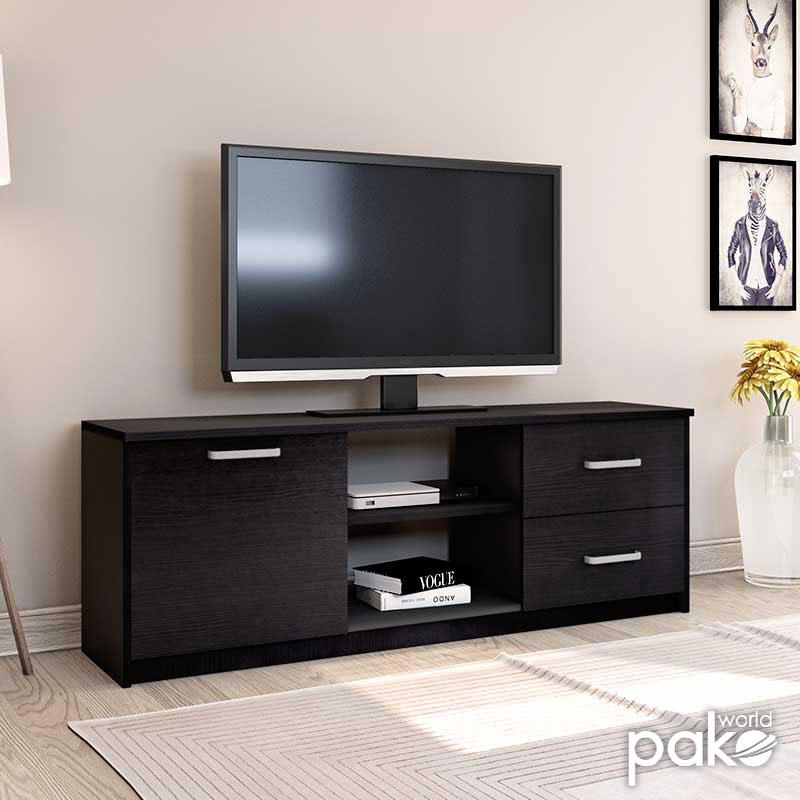 Έπιπλο τηλεόρασης OLYMPUS pakoworld χρώμα wenge 160x39,5x50,5εκ