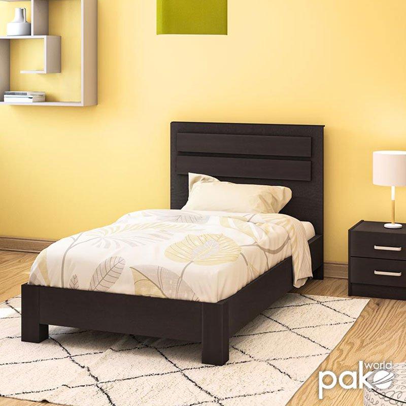 Κρεβάτι μονό OLYMPUS pakoworld σε χρώμα wenge 100x200εκ