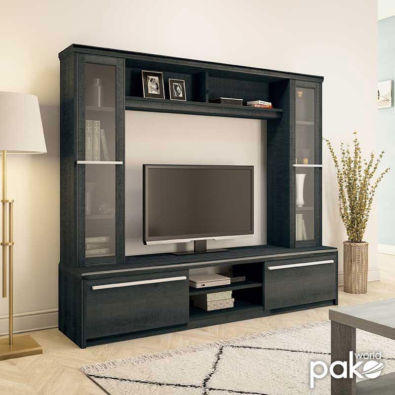 Σύνθετο σαλονιού Chico TV pakoworld χρώμα embony oak 180,5x40x158εκ