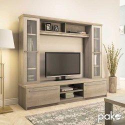 Σύνθετο σαλονιού Chico TV pakoworld χρώμα castillo 180,5x40x158εκ