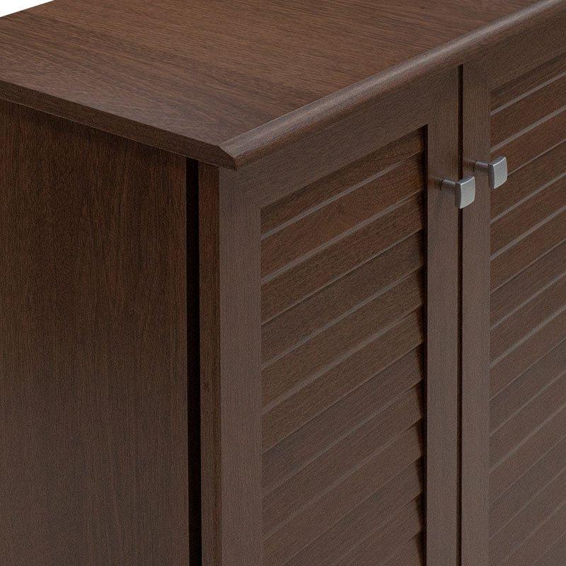 Παπουτσοθήκη-ντουλάπι SANTO pakoworld 10 ζεύγων χρώμα καρυδί 60x34,5x91,5εκ