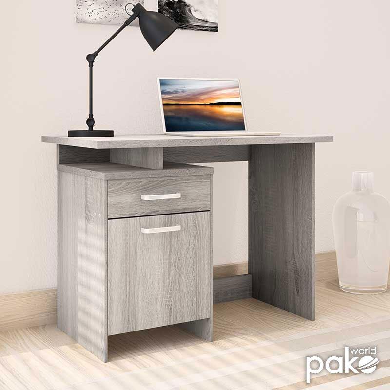 Γραφείο εργασίας Looney pakoworld χρώμα white wash 100x55x75εκ