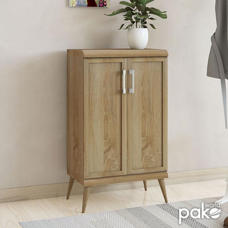 Παπουτσοθήκη-ντουλάπι RICARDO pakoworld 10 ζεύγων χρώμα sonoma 60x37x105εκ