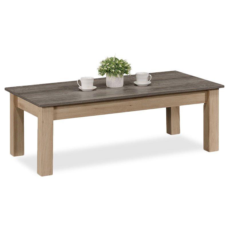 Τραπέζι σαλονιού Bruno pakoworld χρώμα viscount - toro 121x59x42εκ