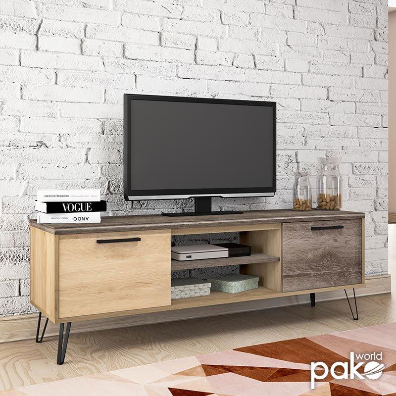 Έπιπλο τηλεόρασης Bruno pakoworld χρώμα viscount - toro 151,5x40x52εκ