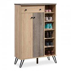 Παπουτσοθήκη-ντουλάπι Bruno pakoworld 24 ζεύγων χρώμα viscount - toro 90x38x141,5εκ