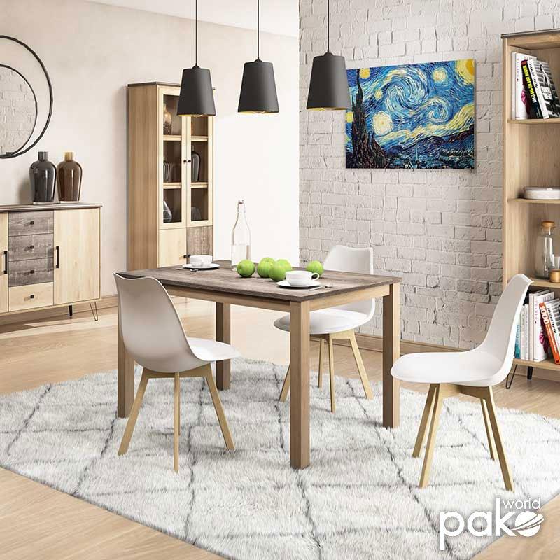 Τραπέζι Bruno pakoworld χρώμα viscount - toro 120x79x74εκ