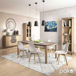 Τραπέζι Bruno pakoworld χρώμα viscount - toro 200x100x74εκ