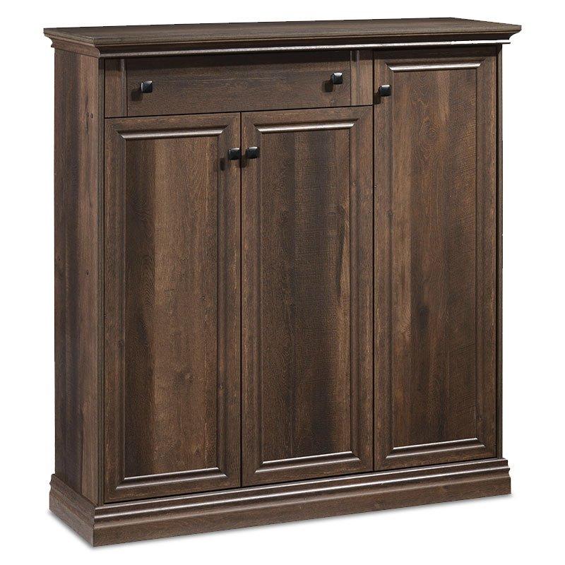 Παπουτσοθήκη-ντουλάπι Mozart pakoworld 24 ζεύγων χρώμα καρυδί 117x38x127εκ