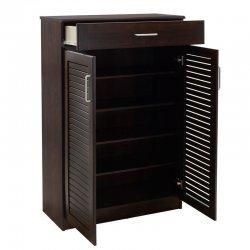 Παπουτσοθήκη-ντουλάπι SANTE pakoworld 20 ζεύγων χρώμα σκούρο καρυδί 80x37x123εκ