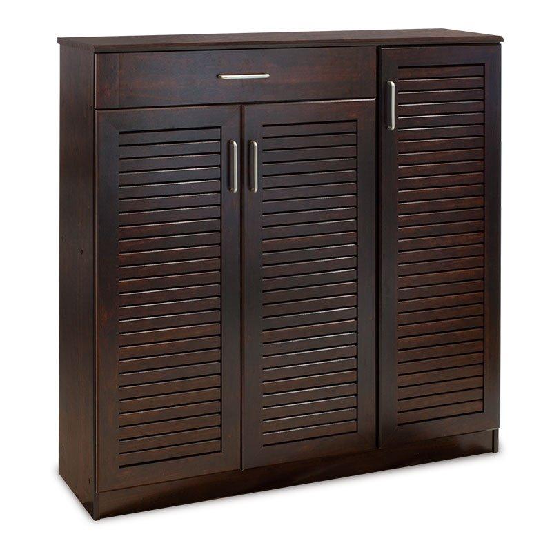 Παπουτσοθήκη-ντουλάπι SANTE pakoworld 30 ζεύγων χρώμα σκούρο καρυδί 120x37x123εκ