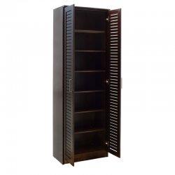 Παπουτσοθήκη-ντουλάπα SANTE pakoworld 21 ζεύγων σε σκούρο καρυδί 60x37x183εκ