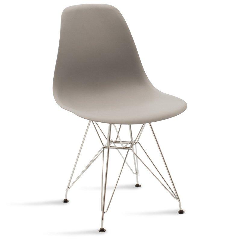 Καρέκλα Adelle pakoworld pp χρώμα γκρι - inox