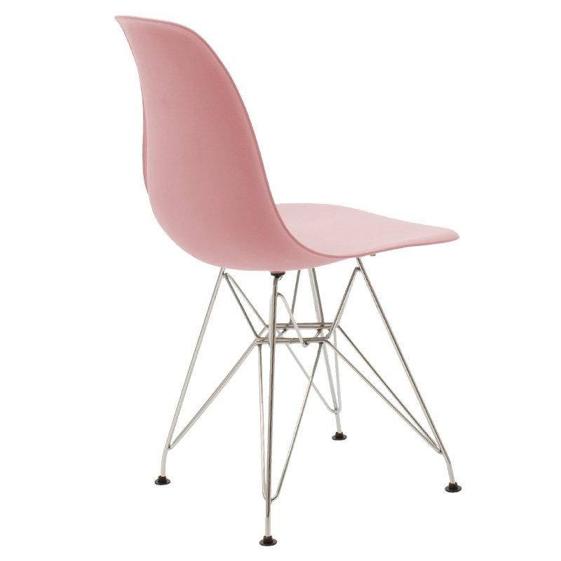 Καρέκλα Adelle pakoworld pp χρώμα ροζ - inox
