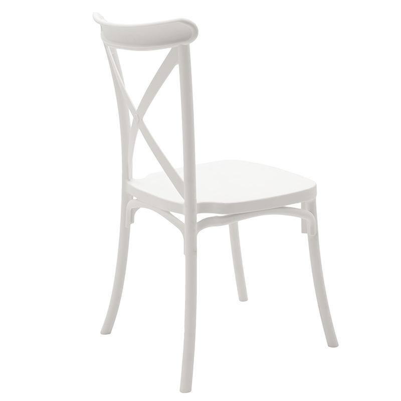 Καρέκλα catering Xavier pakoworld pp λευκό