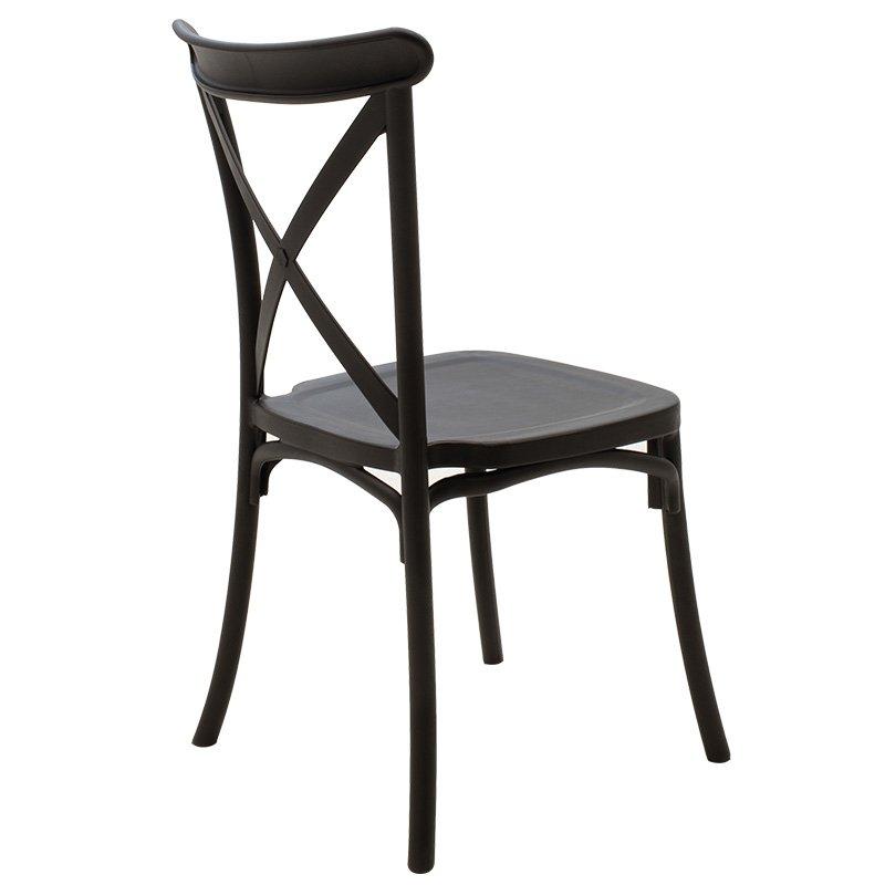 Καρέκλα catering Xavier pakoworld pp μαύρο