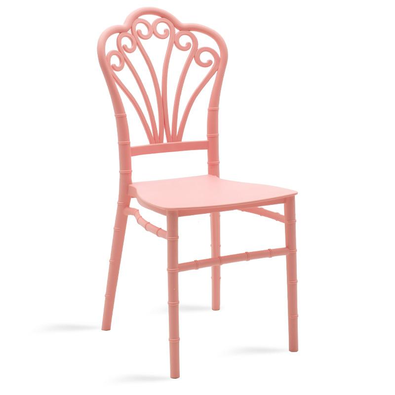 Καρέκλα catering Lady pakoworld pp ροζ