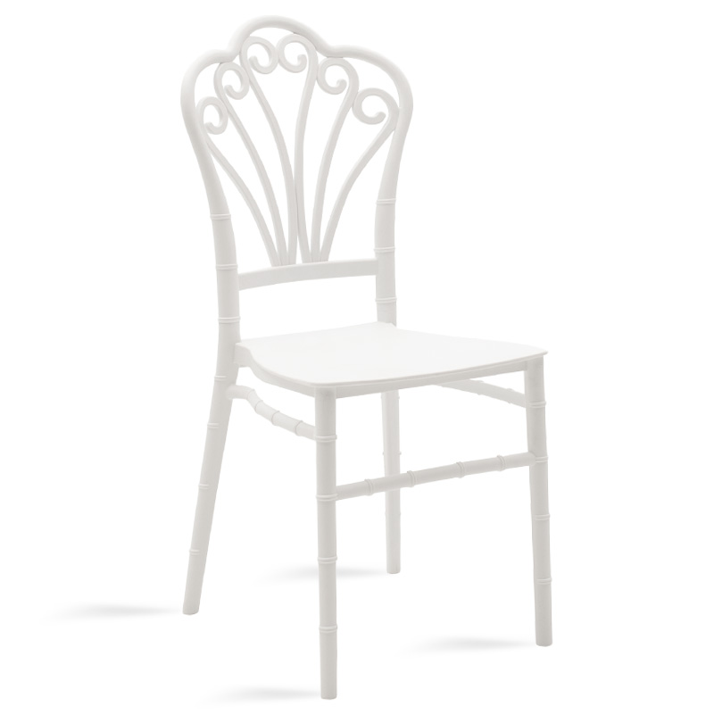 Καρέκλα catering Lady pakoworld pp λευκό