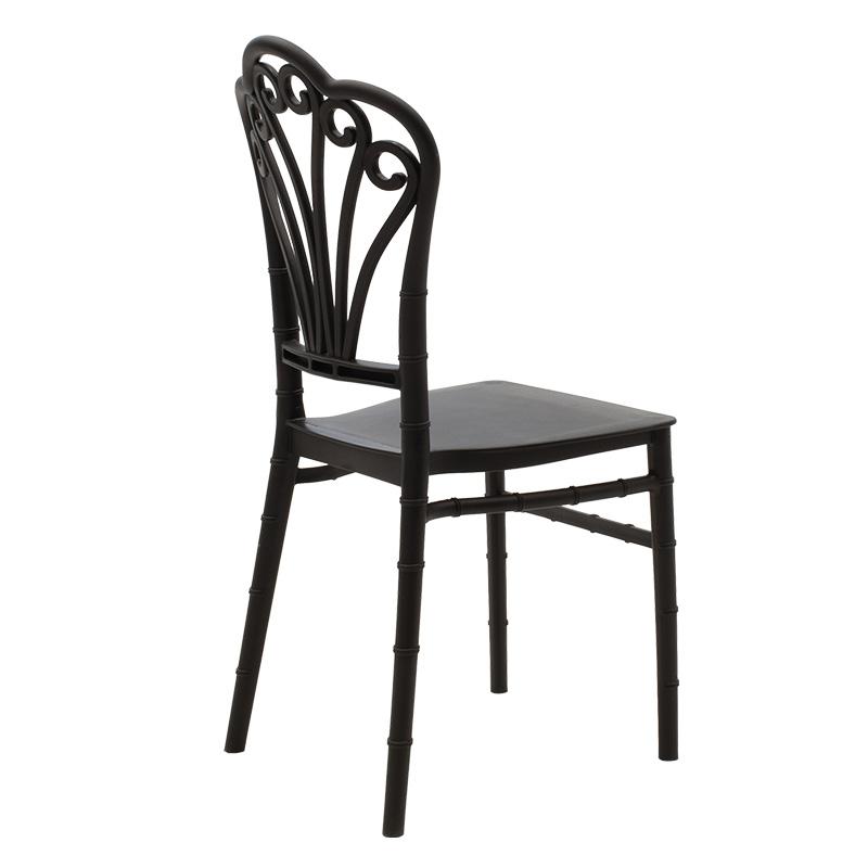 Καρέκλα catering Lady pakoworld pp μαύρο