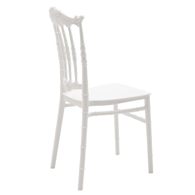 Καρέκλα catering Maggy pakoworld pp λευκό