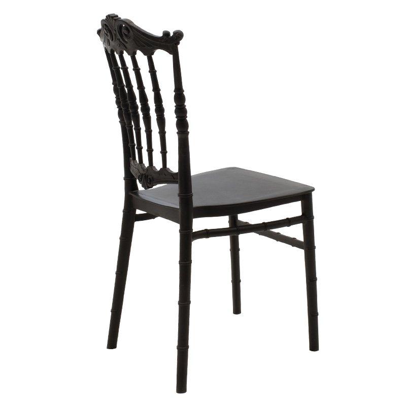 Καρέκλα catering Maggy pakoworld pp μαύρο